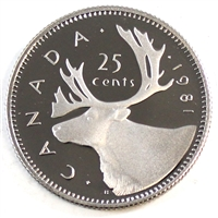 1981 Canada 25-cents Proof