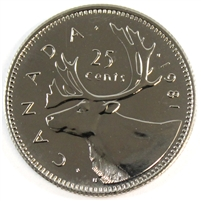 1981 Canada 25-cents Proof Like