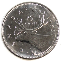 1982 Canada 25-cents Brilliant Uncirculated (MS-63)