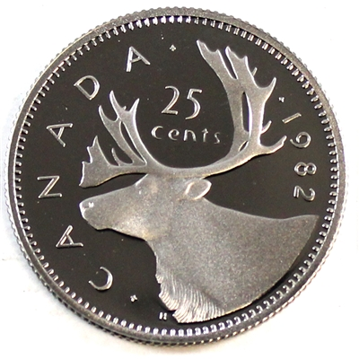 1982 Canada 25-cents Proof