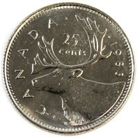 1983 Canada 25-cents Brilliant Uncirculated (MS-63)