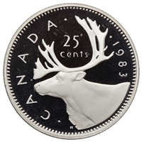1983 Canada 25-cents Proof