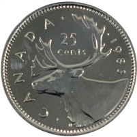 1983 Canada 25-cents Proof Like