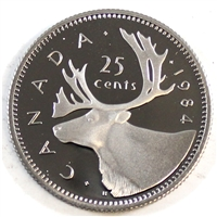 1984 Canada 25-cents Proof
