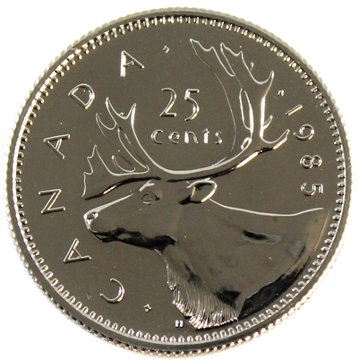 1985 Canada 25-cents Proof Like