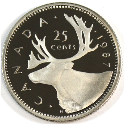 1987 Canada 25-cents Proof