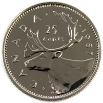 1987 Canada 25-cents Proof Like
