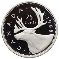 1988 Canada 25-cents Proof
