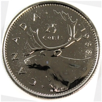 1988 Canada 25-cents Proof Like