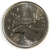 1990 Canada 25-cents Brilliant Uncirculated (MS-63)