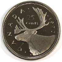 1990 Canada 25-cents Proof