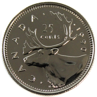 1990 Canada 25-cents Proof Like