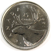 1991 Canada 25-cents Brilliant Uncirculated (MS-63)