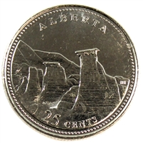 1992 Canada Alberta 25-cents Brilliant Uncirculated (MS-63)