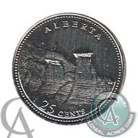 1992 Canada Alberta 25-cents Proof Like