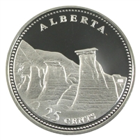1992 Canada Alberta 25-cents Silver Proof