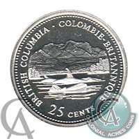 1992 Canada British Columbia 25-cents Silver Proof