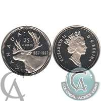 1992 Canada Caribou 25-cents Proof