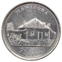 1992 Canada Manitoba 25-cents Brilliant Uncirculated (MS-63)