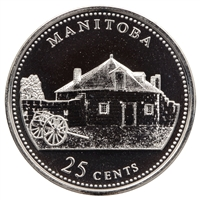 1992 Canada Manitoba 25-cents Proof Like