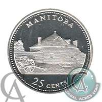 1992 Canada Manitoba 25-cents Silver Proof