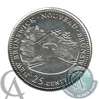 1992 Canada New Brunswick 25-cents Brilliant Uncirculated (MS-63)