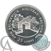 1992 Canada New Brunswick 25-cents Silver Proof