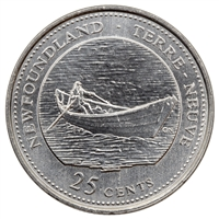 1992 Canada Newfoundland 25-cents Brilliant Uncirculated (MS-63)