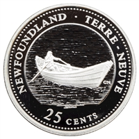 1992 Canada Newfoundland 25-cents Silver Proof