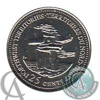 1992 Canada Northwest Territories 25-cents Proof Like