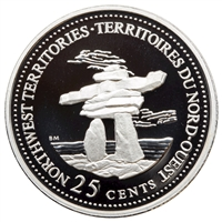 1992 Canada Northwest Territories 25-cents Silver Proof