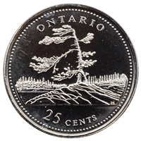 1992 Canada Ontario 25-cents Proof Like