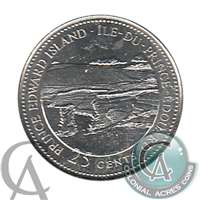 1992 Canada Prince Edward Island 25-cents Brilliant Uncirculated MS-63