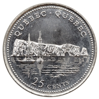 1992 Canada Quebec 25-cents Brilliant Uncirculated (MS-63)