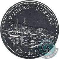 1992 Canada Quebec 25-cents Proof Like