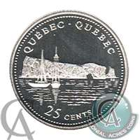 1992 Canada Quebec 25-cents Silver Proof