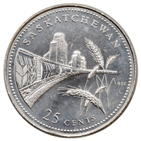 1992 Canada Saskatchewan 25-cents Brilliant Uncirculated (MS-63)