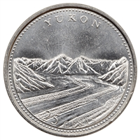 1992 Canada Yukon 25-cents Brilliant Uncirculated (MS-63)