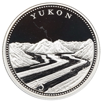 1992 Canada Yukon 25-cents Silver Proof