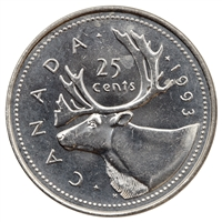 1993 Canada 25-cents Brilliant Uncirculated (MS-63)
