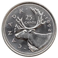 1994 Canada 25-cents Brilliant Uncirculated (MS-63)