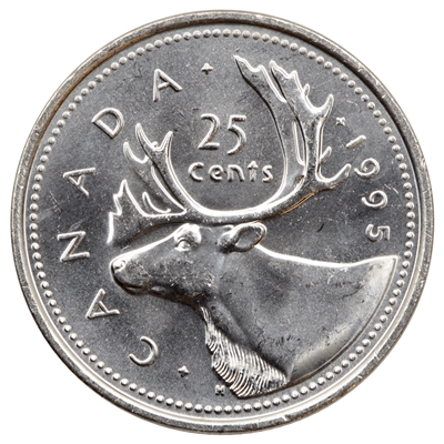 1995 Canada 25-cents Brilliant Uncirculated (MS-63)