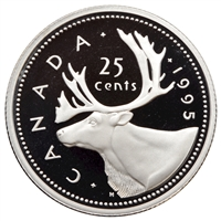 1995 Canada 25-cents Proof