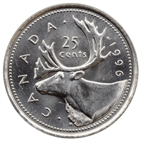 1996 Canada 25-cents Brilliant Uncirculated (MS-63)