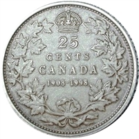 1998 Canada (1908-1998) Antique 25-cents Proof