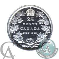 1998 Canada (1908-1998) Commem. 25-cents Proof
