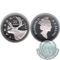 1998 Canada 25-cents Silver Proof