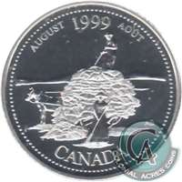 1999 Canada August 25-cents Silver Proof