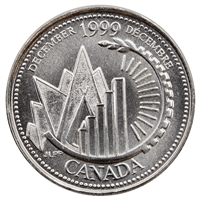 1999 Canada December 25-cents Brilliant Uncirculated (MS-63)