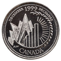 1999 Canada December 25-cents Proof Like